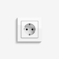 E2 | Socket outlet Pure white glossy | Schuko sockets | Gira