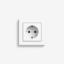 E2 | Socket outlet Pure white matt | Schuko sockets | Gira