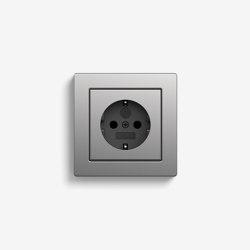 E2 | Socket outlet Stainless Steel | Schuko sockets | Gira