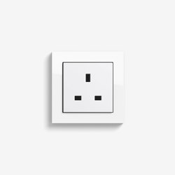 E2 British Standard | Socket outlet Pure white glossy | British sockets | Gira