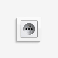 E2 CEBEC | Socket outlet Pure white glossy | Schuko sockets | Gira