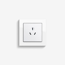 E2 CH, EURO-US | Socket outlet Pure white glossy | Chinese sockets | Gira