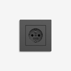 E2 Flat installation | Socket outlet Anthracite | Schuko sockets | Gira