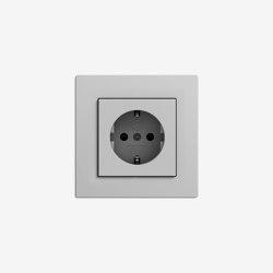 E2 Flat installation | Socket outlet Grey matt | Schuko sockets | Gira