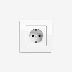 E2 Flat installation | Socket outlet Pure white glossy | Schuko sockets | Gira