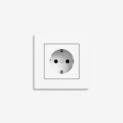 E2 Flat installation | Socket outlet Pure white matt | Schuko sockets | Gira