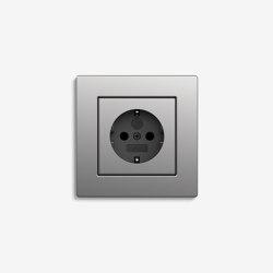 E2 Flat installation | Socket outlet Stainless Steel | Schuko sockets | Gira