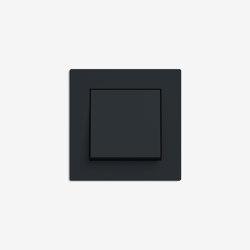 E2 Flat installation | Switch Black matt | Push-button switches | Gira