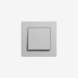 E2 flacher Einbau | Schalter Grau matt | Tastschalter | Gira