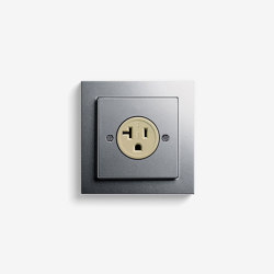 E2 NEMA | Socket outlet Colour aluminium | American sockets | Gira