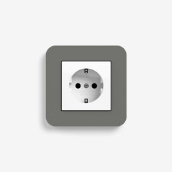 E3 | Socket outlet Dark grey with white | Schuko sockets | Gira