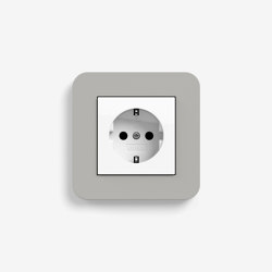 E3 | Socket outlet Grey with white | Schuko sockets | Gira