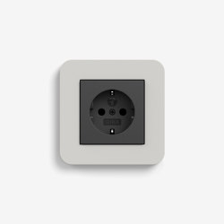 E3 | Socket outlet Light grey with black | Schuko sockets | Gira