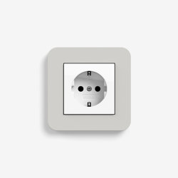 E3 | Socket outlet Light grey with white | Schuko sockets | Gira