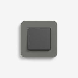 E3 | Switch Dark grey with black | Interruptores pulsadores | Gira