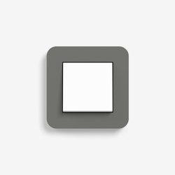 E3 | Switch Dark grey with white | Push-button switches | Gira