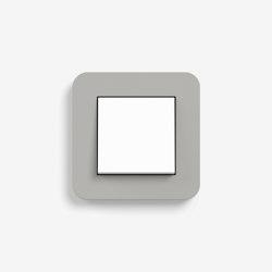E3 | Schalter Grau mit weiß | Tastschalter | Gira