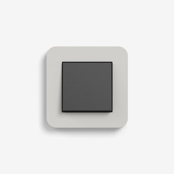 E3 | Switch Light grey with black | Push-button switches | Gira