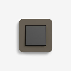 E3 | Switch Umber with black | Push-button switches | Gira