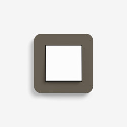 E3 | Switch Umber with white | Push-button switches | Gira