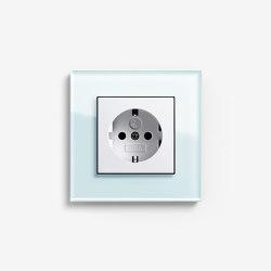 Esprit Glass | Socket outlet Glass mint | Schuko sockets | Gira