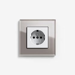 Esprit Glass | Socket outlet Glass umber | Schuko sockets | Gira