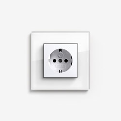 Esprit Glass | Socket outlet Glass white | Schuko sockets | Gira