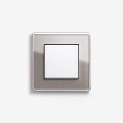 Esprit Glass | Switch Glass C umber | Push-button switches | Gira