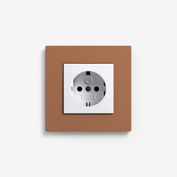 Esprit Linoleum-Plywood | Socket outlet Light brown | Schuko sockets | Gira