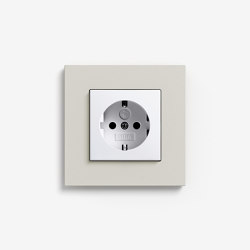 Esprit Linoleum-Plywood | Socket outlet Light grey | Schuko sockets | Gira