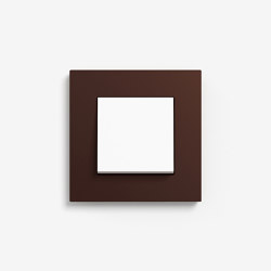 Esprit Linoleum-Plywood | Switch Dark brown | Push-button switches | Gira