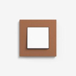 Esprit Linoleum-Plywood | Switch Light brown | Push-button switches | Gira