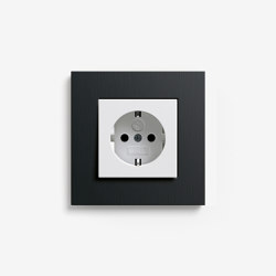 Esprit Metal | Socket outlet Aluminium black | Schuko sockets | Gira