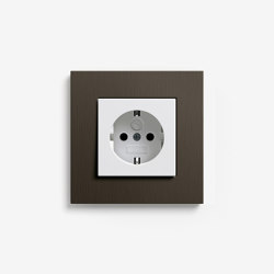 Esprit Metal | Socket outlet Aluminium brown | Schuko sockets | Gira