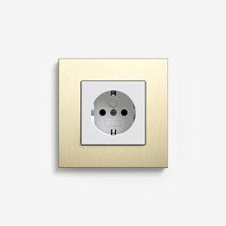 Esprit Metal | Socket outlet Aluminium light gold | Schuko sockets | Gira