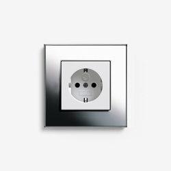 Esprit Metal | Socket outlet Chrome | Schuko sockets | Gira