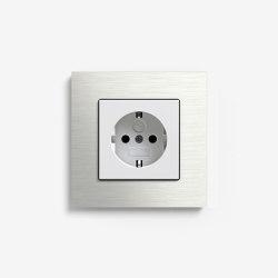 Esprit Metal | Socket outlet Stainless steel | Schuko sockets | Gira