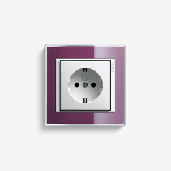 Event | Socket outlet Clear Aubergine | Schuko sockets | Gira