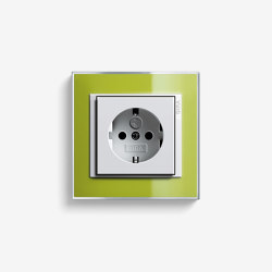 Event | Socket outlet Clear Green | Schuko sockets | Gira