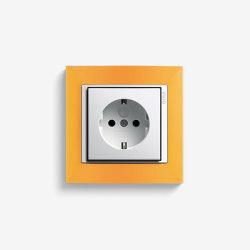 Event | Socket outlet Opaque amber | Schuko sockets | Gira