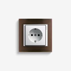 Event | Socket outlet Opaque dark brown | Schuko sockets | Gira
