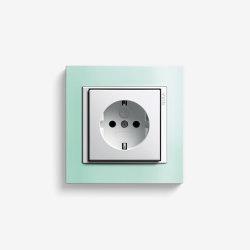 Event | Socket outlet Opaque mint | Schuko sockets | Gira