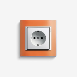 Event | Socket outlet Opaque orange | Schuko sockets | Gira