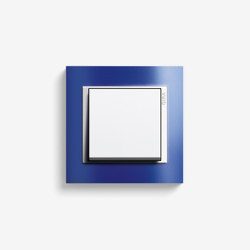 Event | Switch Opaque blue | Push-button switches | Gira