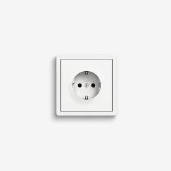 F100 | Pure white glossy | Schuko sockets | Gira