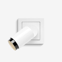 Plug & Light   spotlight Warm dimmable, Pure white glossy   Wall lights   Gira