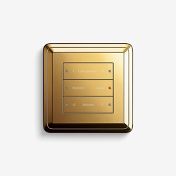 Smart Home/ Smart Building | Pushbutton Sensor 3 | Brass | Sistemi KNX | Gira