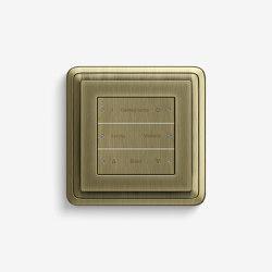 Smart Home/ Smart Building | Pushbutton Sensor 3 | Bronze | KNX-Systems | Gira