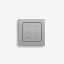 Smart Home/ Smart Building | Pushbutton Sensor 3 | Colour Aluminium | KNX-Systems | Gira