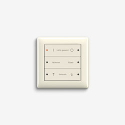Smart Home/ Smart Building | Pushbutton Sensor 3 | Cream white glossy | KNX-Systems | Gira